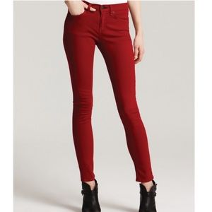 rag & bone/Jean • Skinny Zipper Jean in Red